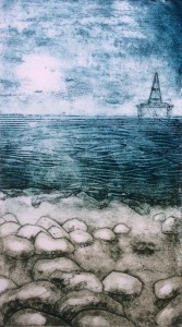 Out across the Firth-Collagraph