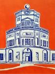 Radcliffe Observatory- Linocut I
