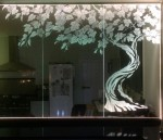 Vieilles vignes Design by Sherry Rea for Sandblasted Glass Wall